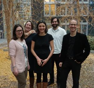 (V.l.n.r) Irina Zakharova, Angelina Lange, Dr. Juliane Jarke, Tjark Raabe und Prof. Dr. Andreas Breiter